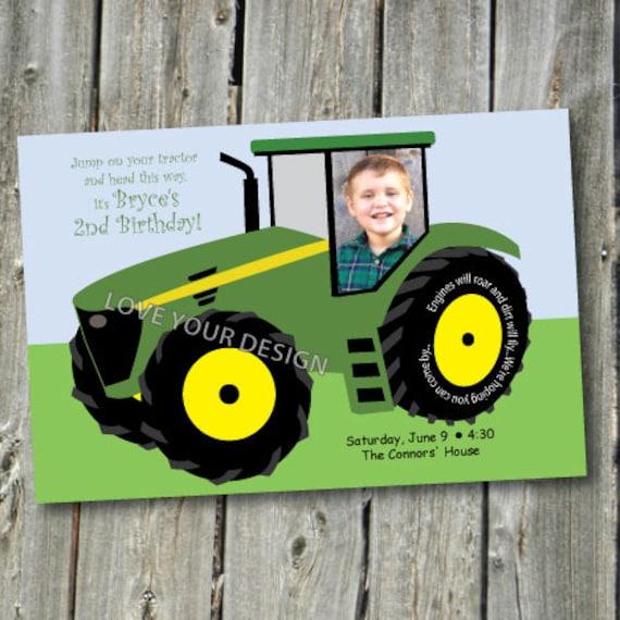 Favori Articles similaires à Invitation d'anniversaire tracteur de ferme  QL28