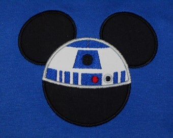 R2D2 Mouse Space Wars Shirt - Fun for Magical Family Vacation Dark Fader Princess Lela Chewy
