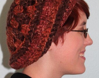 Variegated Brown Crochet Hat