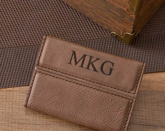 Personalized Mocha Business Card Holder (GC1264)
