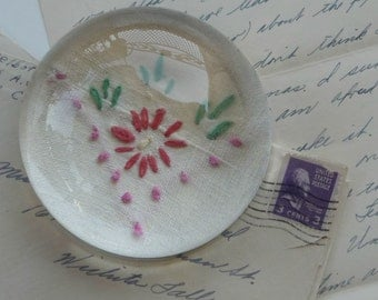 Paperweight - Vintage Embroidery