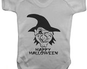 Halloween Scary Face Baby Bodysuit   VestBaby GrowBaby One PieceBaby ClothesBodysuit 100 Cotton  Silkscreen
