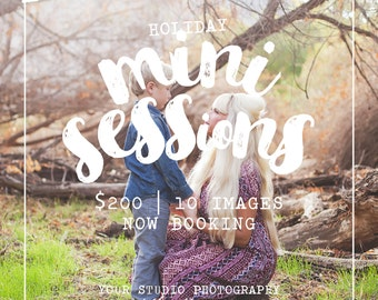 Photography 5x5 Marketing Board Mini Session Template INSTANT DOWNLOAD