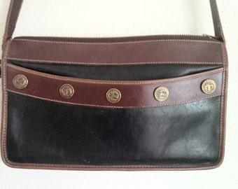 BRAHMIN Bag Leather Handbag Crossbody Purse Vintage Leather Handbag