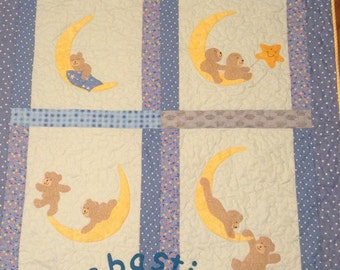 Bears in the stars name quilt