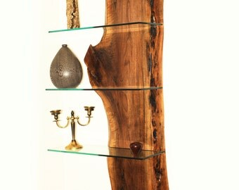 Wood Slab Shelving Units