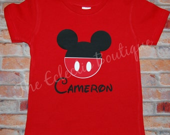 Personalized Mickey Mouse T-shirt