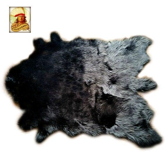 Buffalo Rug Deer Skin Bear Hide Faux Fur Accent Pelt By