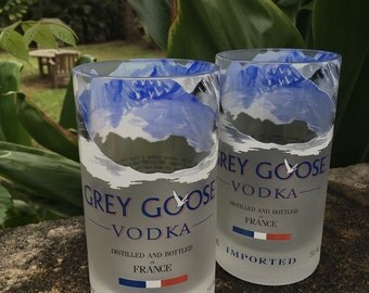 grey goose glasses made from 1 liter grey by cupcycleglassworks. Black Bedroom Furniture Sets. Home Design Ideas