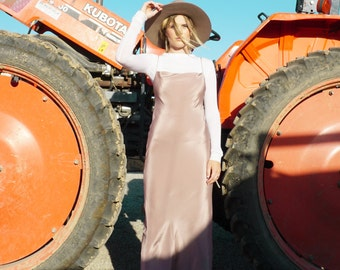 SILK LONG SLIP Dress | Gorgeous Silks in Mini Midi or Maxi Slip Dresses | Incredible Silk Fabrics and Color Options | Bra Friendly Neckline