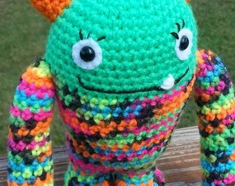 Bright green monster
