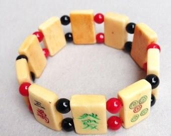 Mahjong Bead Bracelet