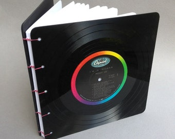 Upcycled Coptic Stitch Vinyl Record Book/Journal (Peggy Lee)