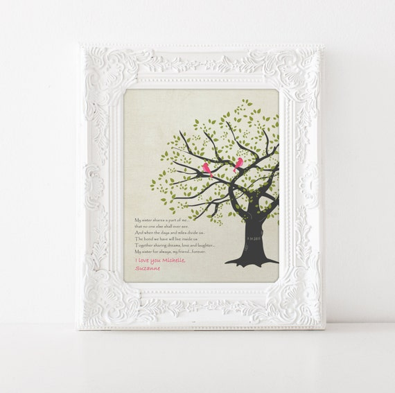 Wedding Gift For Your Sister : Sisters Birthday Gift - Wedding Gift for sister - Maid of Honor Gift ...