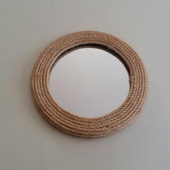 round mirror rope mirror coastal style mirror by 14meadowridge. Black Bedroom Furniture Sets. Home Design Ideas
