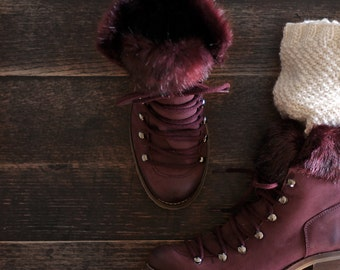 Knit Boot Cuff Knitting Pattern - LOVE– a set of instructions to knit the boot cuffs - Digital Download