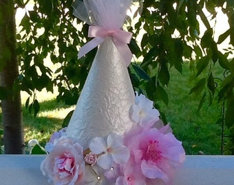 Elegant Floral Party Hat