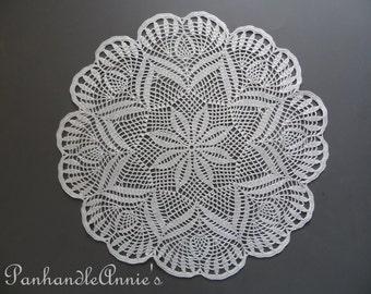 Handmade Crochet Starflower and Pineapple  Doily