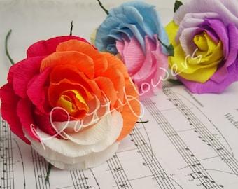 Wedding flowers,paper flowers,wedding roses,paper flower bouquet,pink roses 3pcs,paper flowers,bridal paper flowers.