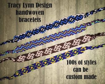 Friendship Bracelet - Woven Bracelet - Macrame Bracelet - Adjustable Bracelets - Custom Made - Stackable Bracelets - Handmade Anklet - #11