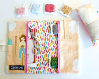 ZAKKA Travel Sewing Kit, Embroidery Kit, Designer Fabric, Ready to Ship