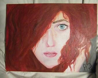 Beautiful Redhead 40x30cm
