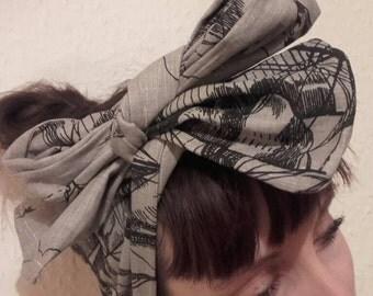 Handmade ships linen headband