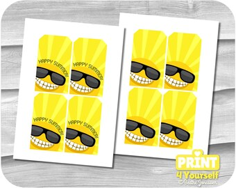 Large Summer Gift Tags - Instant Download Printables