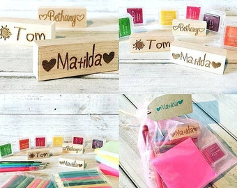 Name Rubber Stamp Gift Set