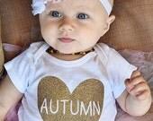 Baby bodysuit, personalized name baby, custom, handmade bodysuit, Baby girl clothes, Baby shower gift