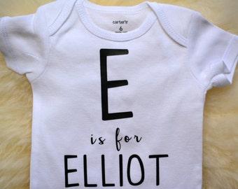 Baby bodysuit, personalized name baby, custom, handmade bodysuit, Baby girl clothes, Baby shower gift, baby boy