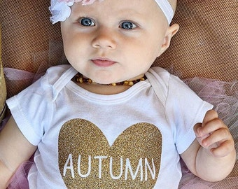 Baby girl coming home outfit, personalized baby clothes, custom baby clothes, Baby girl clothes, newborn outfit, baby girl name shirt