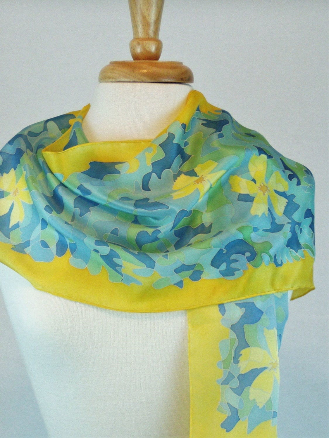 silk scarf personalized painted silk bridesmaid gift