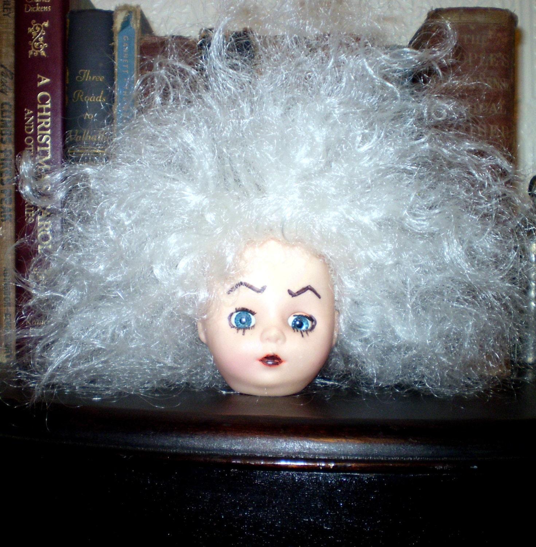 CREEPY DOLL HEAD Vintage Doll Part Head Is 2.53 By
