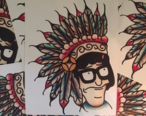 Tina Belcher Bob's Burgers Indian Print