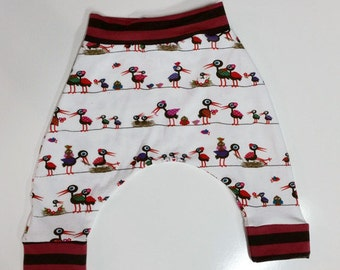 Kooky Birds Harem Pants, Baby and Kids Harem Pant Leggings