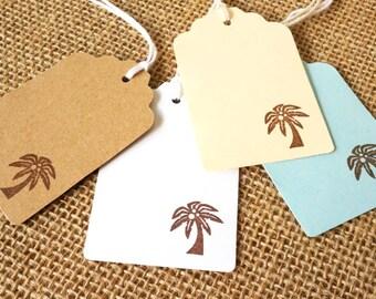Beach Wedding Favor Tags - Palm Tree Tags - Destination Wedding Favor Tags - Hawaii Wedding Gift Tags - Tropical Wedding favors