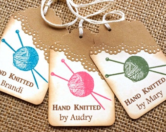 Knitting Tags - Tags for Knitting - Knitting by Tags - Seller Tags - Personalized Knitting Tags - Personalized Knitting Labels - Knit Tags