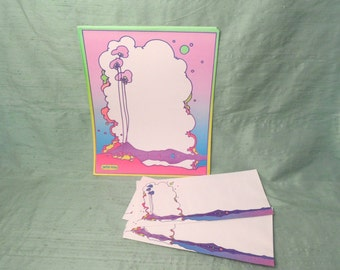 PETER MAX pop psychedelic letterhead and envelope stationery  Circa 1965