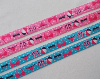 Beach FOE, Are you ready for the Beach or a Pool party?  Beach/Pool party theme elastic ribbon-FOE …75 cents per yard