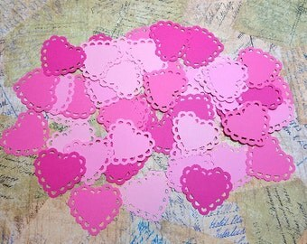 Scalloped edge Hearts/Doilies   #TAM-81