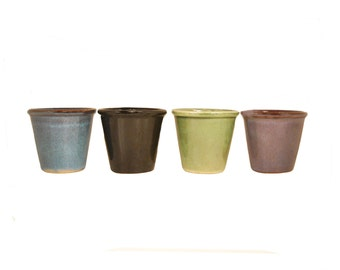 Succulent Planter Round Glazed Ceramic Clay Containers For Small Dish Gardens, Succulents, Plants Gift Favor 4 Color Choices