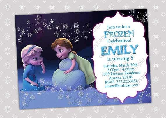 items similar to frozen invitation - frozen birthday invitation