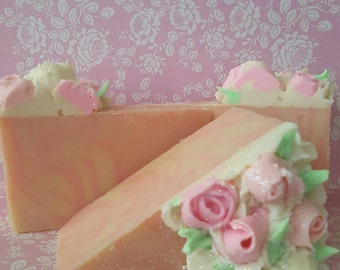 Lemon Scented Handmade Soap Cake Slice