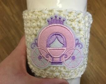 Princess carriage coffee cozy