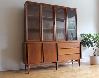 Mid Century Modern Walnut Dining Cabinet