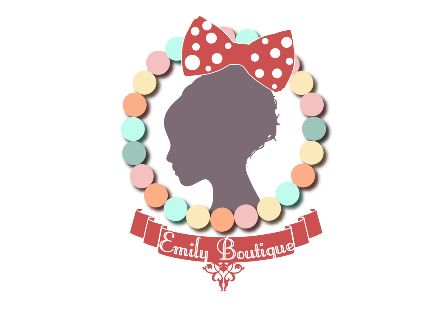 Custom logo design for handmade jewelry colorful beads logo