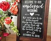 Wedding Chalkboard Easel • Unplugged Weddibg Chalkboard Sign • Wedding Welcome Sign Easel