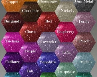 Custom Glitter or Swarovski Crystal Shoe Sole Colour Chart