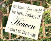 We Know You Would Be Here Today if HEAVEN Wasn't So Far Away | Memory Sign | Memory Table Decor | Wedding Sign | Photo Table Sign